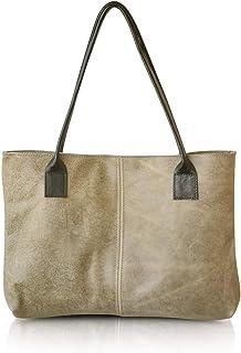 Handmade Durable Simple Everyday Women s Italian Leather Tote Shoulder Bag Medium  Size Leather Work Bag 2db186c0df964