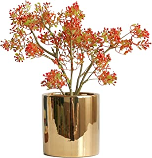 PAKUES-QO Décor De Plantes Artificielles en Pot Plantes Artificielles en Pot Faux Pistachier Plantes en Pot Intérieur Salo...