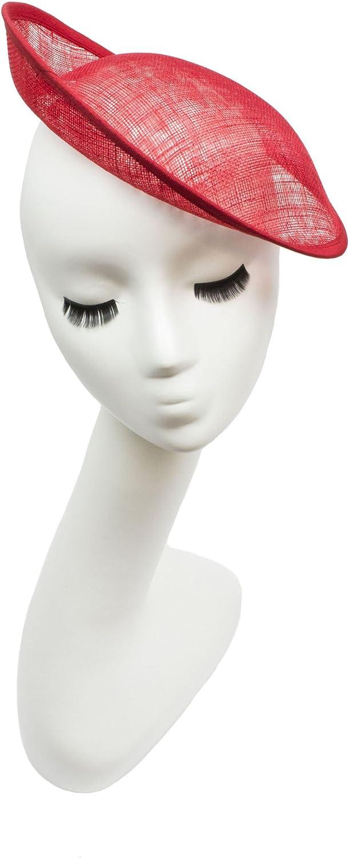 1950s Women's Hat Styles & History Humboldt Haberdashery Sinamay Saucer with Upturned Brim Hat Base 9 1/2 Diameter  AT vintagedancer.com