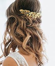 Broche para pelo de hojas doradas y pedrería de Aukmla