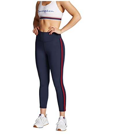 Champion Sport High-Rise Tights (Athletic Navy/Scarlet) Women