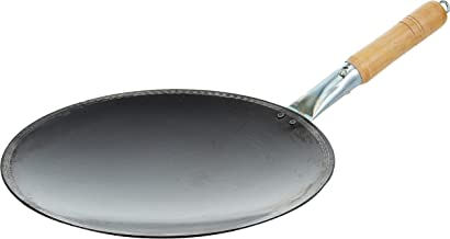 Raj Iron Fry Pan With Handle, Black, IHT012