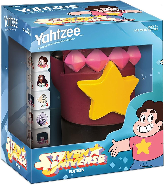 USAOPOLY YZ085457 Yahtzee Steven Universe Garnet's Gauntlet Board Game