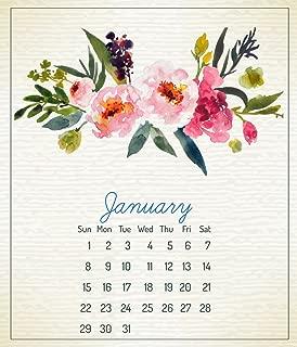 2019 CD Calendar 12 Month Calendar Jan. - Dec. 2019, Beautiful Floral Art Design Printed on Top Quality Paper , in CD Jewel Case Holder
