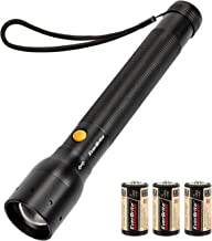 EverBrite Ultra Bright Tactical Flashlight, 900 Lumen CREE XP-G LED, Zoomable Adjustable Focus, 3 Light Modes, Heavy-duty Aluminum Torch for Hurricane Supplies Camping, Includes 3C Alkaline Batteries