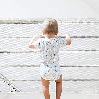 Red de Protección Duradero Red de Seguridad Escaleras Malla Tejida para Escaleras Balcones Terrazas PuertasVentanas Bebé Mascota 3M Blanco