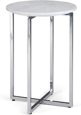 Amazon.com: Accent – Mesa cromado metal con vidrio templado ...