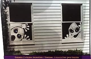 halloween window murals