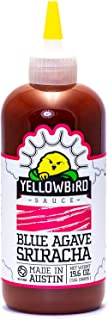 Blue Agave Sriracha Hot Sauce by Yellowbird | Plant-Based, Gluten Free, Non-GMO | Homegrown in Austin | 19.6 oz