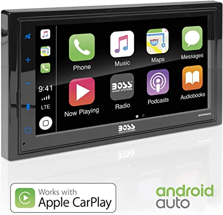 $227 » Boss Audio Systems BVCP9685A Apple CarPlay Android Auto Car Multimedia Player - Double Din Car Stereo, 6.75 Inch LCD Touchscreen Monitor, Bluetooth, MP3 Player, USB Port, Aux Input, AM FM Car Radio