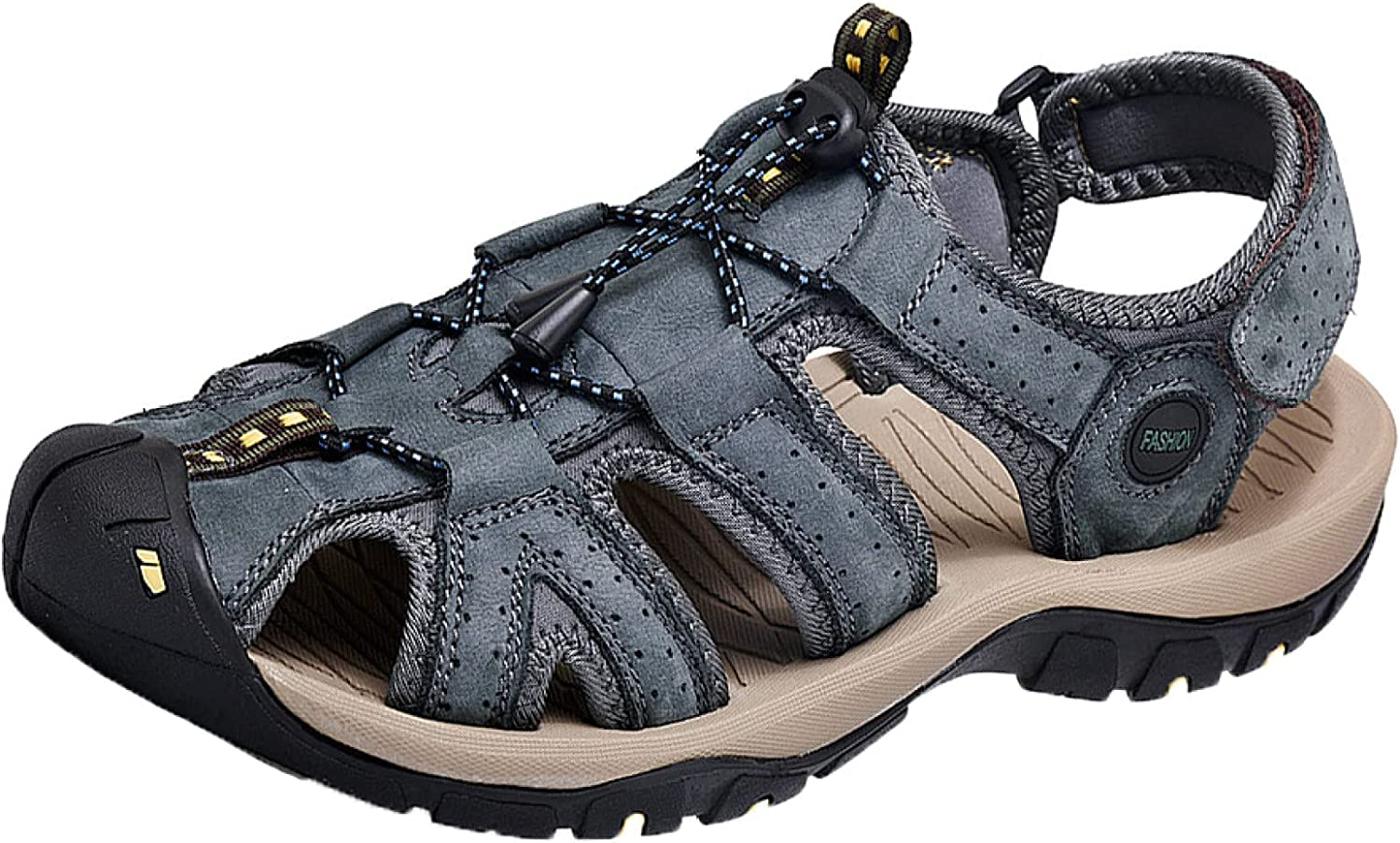 Mens Sandal Tucson Mall Summer Regular store Sport Leather Indoor Outdoor and Comfort for
