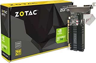 ZOTAC GeForce GT 710 2GB DDR3 PCI-E2.0 DL-DVI VGA HDMI Passive Cooled Single Slot Graphics Card, ZT-71302-20L 2GB DDR3 ZT-...