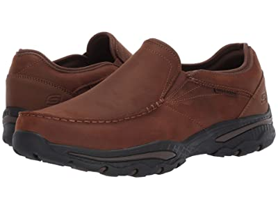 SKECHERS Relaxed Fit Creston Artie (Dark Brown) Men
