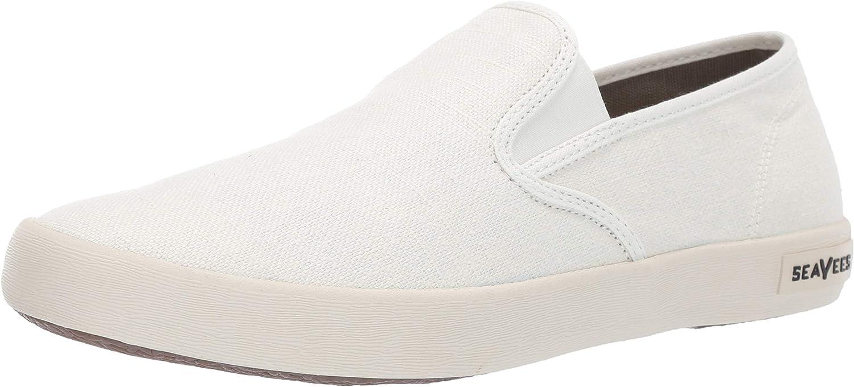 SeaVees Men's Baja Slip On Classic White 10 Be super welcome Sneaker Memphis Mall