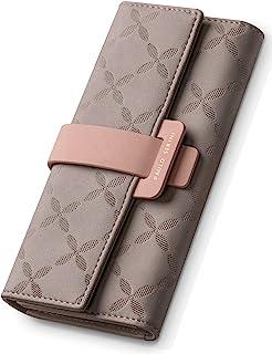 PAULO SERINI® Geldbörse Damen - Portemonnaie Damen 100% veganes Leder - Geldbeutel für Frauen groß mit 9 Kartenfächern Fra...