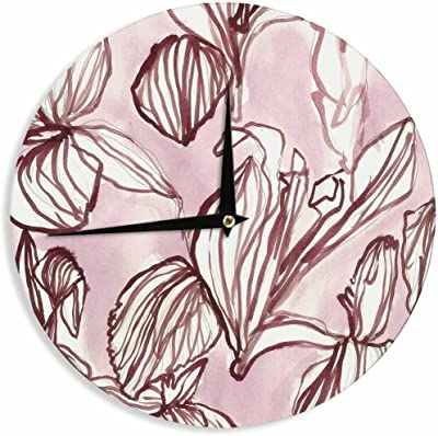 12-Inch Kess InHouse Fernanda Sternieri Rithym Purple Digital Wall Clock