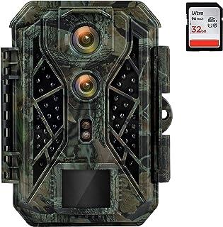 Trail Camera, Coolife Game Camera Dual Lens 4K 32MP Trail...