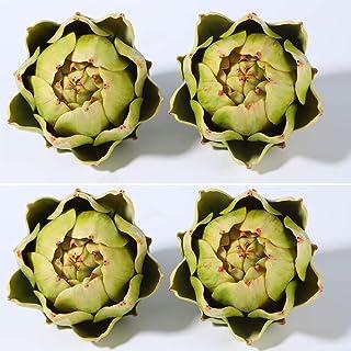 Large Green Artificial Artichoke Vegetables Fake Artichoke for Home Decor (4pcs)… (Green(4pcs))