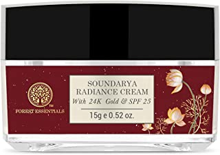 Forest Essentials Travel Size Soundarya Radiance Cream With 24K Gold SPF25 15g (Anti-Aging Day Cream)