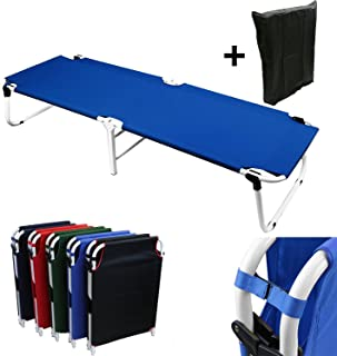 Magshion Furniture VE-COT-BL-D Camping Folding Military Cot, Blue