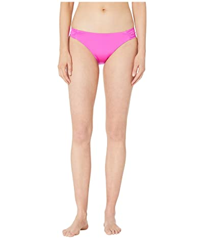 Trina Turk Studio Solids Shirred Side Hipster Bikini Bottom (Hot Pink) Women