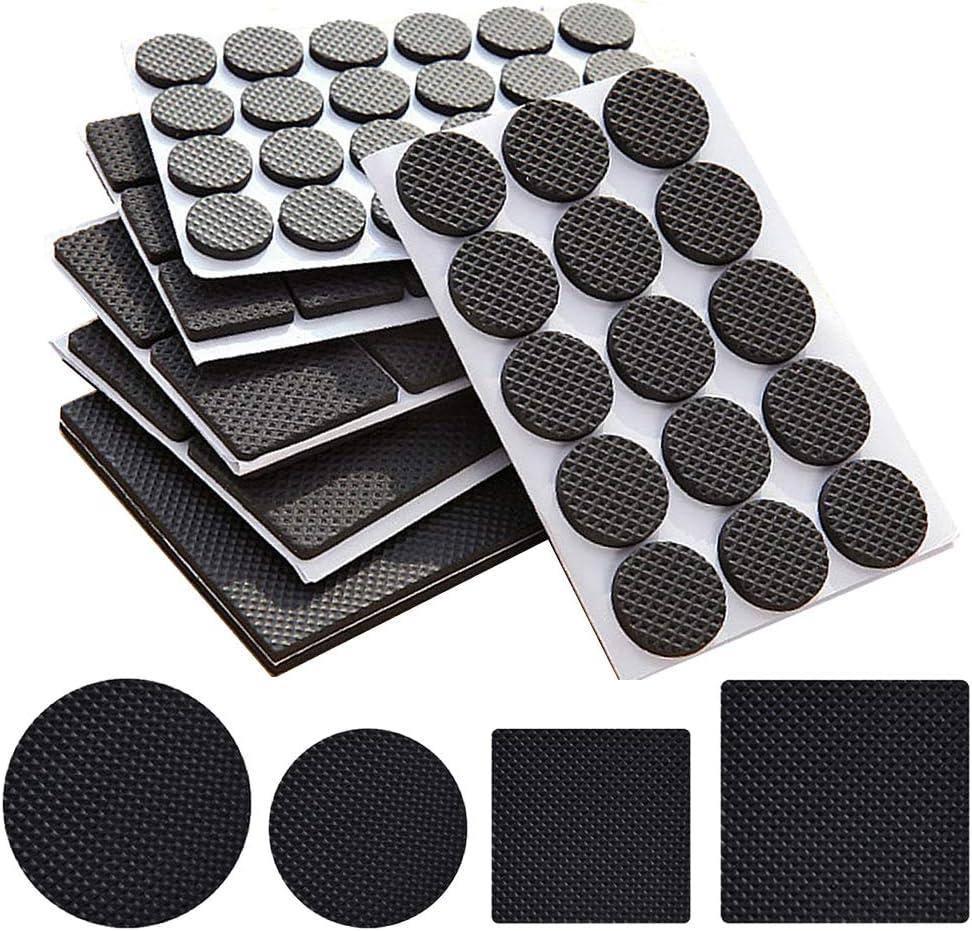 156 piezas de almohadillas de pies ligeras antideslizantes para muebles,Alfombrillas antideslizantes para mesas y sillas,Protectores de piso de muebles para muebles Keep in Place