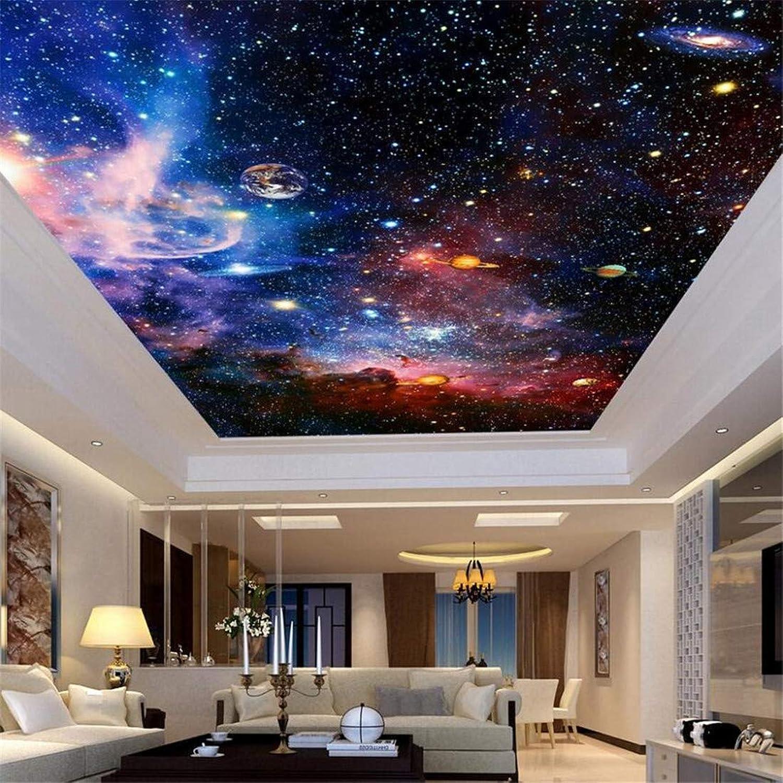 FuweiEncore 3D benutzerdefinierte Wandbild-Wanddekoration -Universum Star Sky Wohnzimmer Decke Fresko Europischen, 200cmX140cm (Farbe   200cmx140cm, Gre   -)