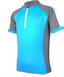 Kid's Cycling Jersey Short Sleeve Bike Biking Shirts Quick-Dry T-Shirt with 1 Rear Pocket