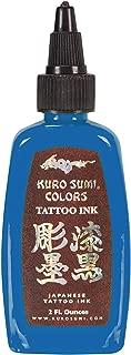 Kuro Sumi Tattoo Ink, Kamikaze Blue, 2 Ounce