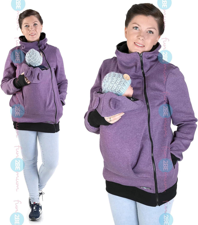 FUN2BEMUM Baby Carrier babycarrying Jacket Hoodie NP22 Purple
