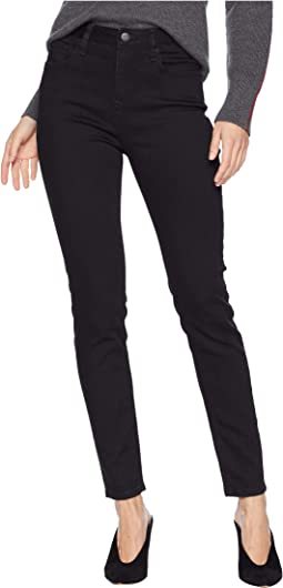 Basic High-Waisted Skinny Jeans in Black