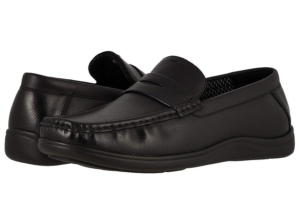 Nunn Bush Brentwood Moc Toe Penny Slip-On (Black) Men