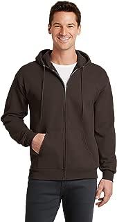 Port & Company - Core Fleece Full-Zip Hooded Sweatshirt. PC78ZH Dark Chocolate