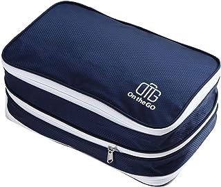 On the GO圧縮バッグ2.0 ファスナーで簡単圧縮 衣類スペース50%節約 シューズ収納 衣類仕分け 衣類圧縮袋 出張 旅行便利グッズ