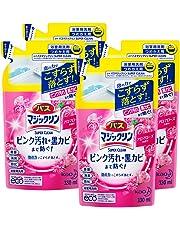 【まとめ買い】バスマジックリン 泡立ちスプレー SUPERCLEAN アロマローズの香り つめかえ用 330ml × 4個