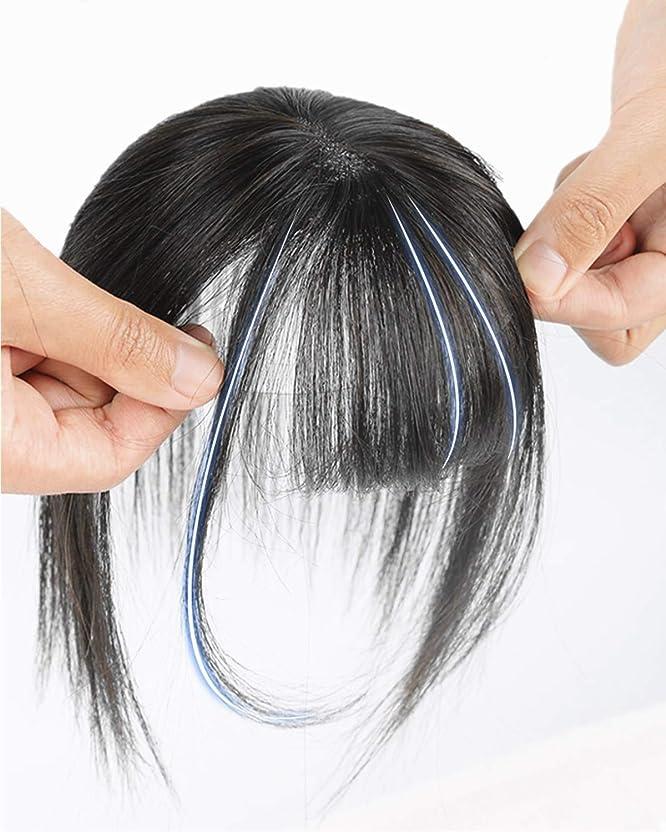 振りかけるジェーンオースティン食用FEIYI WIGS前髪ウィッグ 人毛 手植え 3D構造つむじ付きシースルーバング つけ毛 エクステ ワンタッチ自然 増毛 サイド付