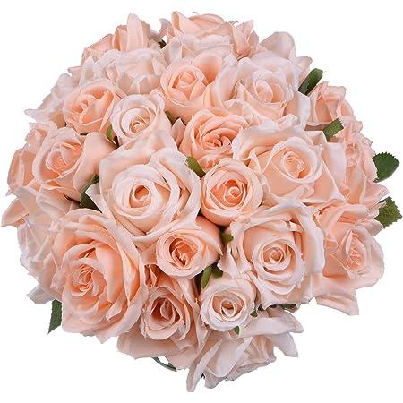 1 Bouquet 5 Heads Artificial Flowers Faux Silk Flower Wedding Bouquet Decor