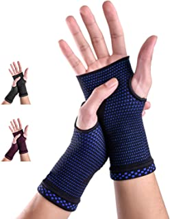 New Medical Compression Technology Compression Glove Wrist Support Sleeves (Pair) for Carpal Tunnel and Wrist Pain Relief ...