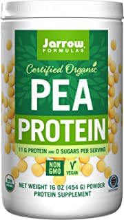 Jarrow Formulas Organic Pea Vegan Protein Powder, Complete Amino Acids, 16 oz. (454 g) Powder