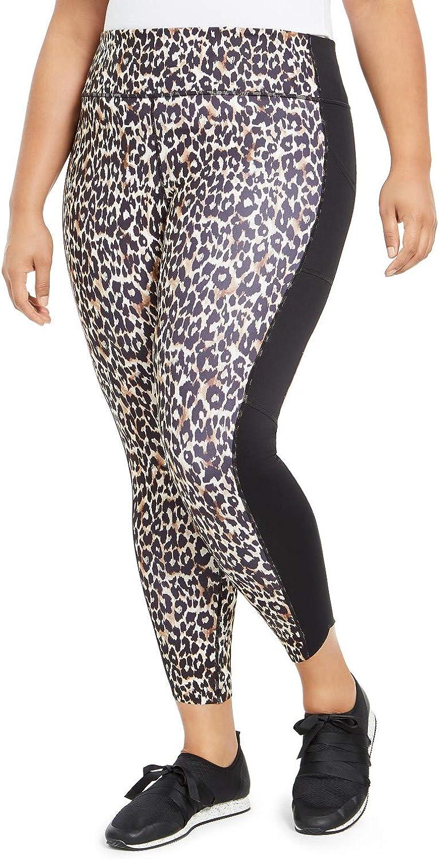 Ideology Plus Size Leopard-Print Leggings Bold Leo 1X