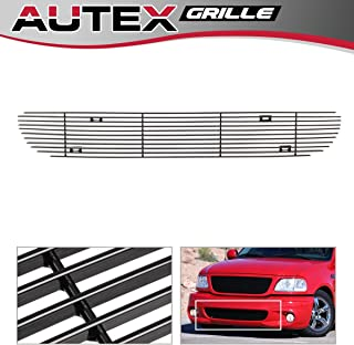 AUTEX Lower Bumper Billet Grille Compatible With Ford F150 1999-2003 Lightning Grill Replacement Black Powder Coated F85384H