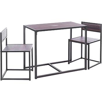 ts ideen 3 teiliges Set Essgruppe Tisch 2 Stühle Küche