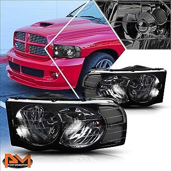 Amazon Com Replacement For Dodge Ram Headlight Chrome Bumper Fog Light Amber Lens Led Third Brake Light Clear Automotive
