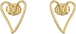 Rebecca Minkoff - Open Heart Stud Earrings