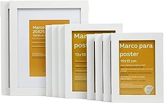Nacnic Tamaño de Marco Blanco (10 Set -  20x25cm x2 -  13x18cm x4 -  10x15cm x4). Marco Blanco para Fotos, Carteles, Diplomas,…