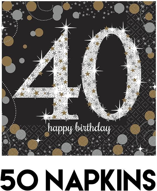 Sparkling Celebration 40 Beverage Paper Napkins Value Pack 50 Ct