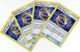 Choice Band 121/145 - Sun Moon Guardians Rising - Trainer Card Set - x4 Tool Card Lot (Playset)