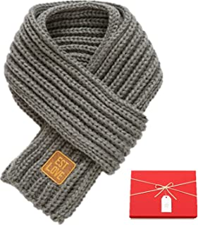 Winter Kids Knitted Scarf,Solid Color Infant Toddler Fashion Thick Cable Warm Scarves