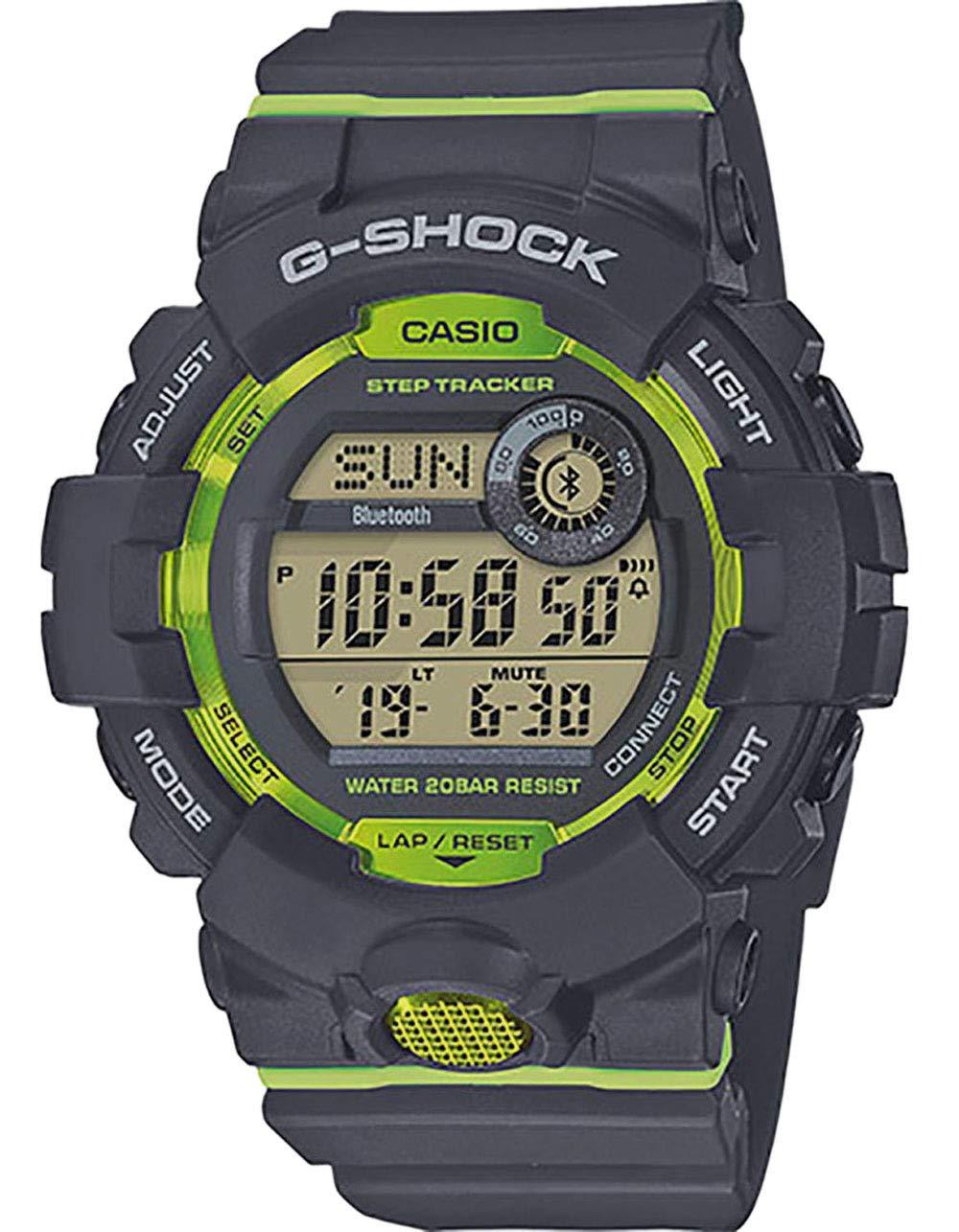 Casio G Shock GBD800 8 Bluetooth GRYLMGRN