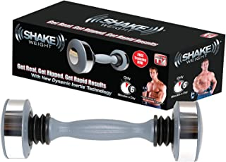 Shake Weight Men's- 5lb Arm Firming, Muscle Toning Dumbbell, Get Real Ripped & Rapid Results with New Dynamic Inertia Technology, Bonus Workout DVD Included